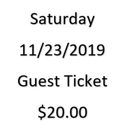 Saturday November 23rd | Guest Ticket