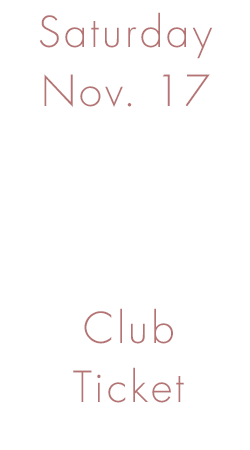 November Open House - Saturday Nov. 17th- Club Ticket Image