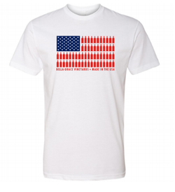 WHITE USA Flag Shirt