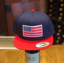 USA Flag Hat - White Mesh