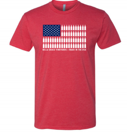 RED USA Flag T-Shirt