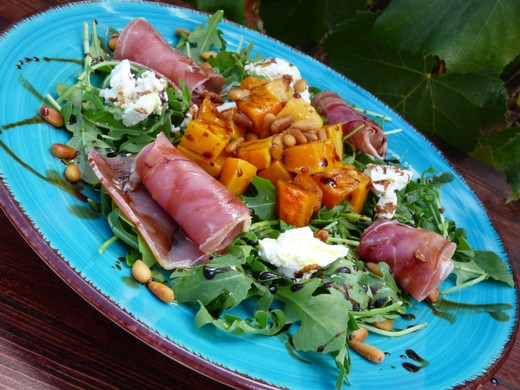 Roasted Rosemary Garlic Butternut Squash Salad