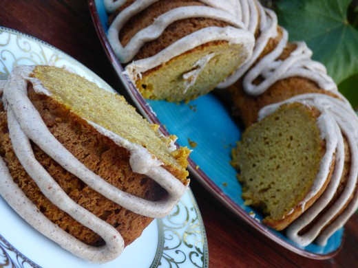 Pumpkin Spice Bundt Cake with Whipped Orange Spice Frosting